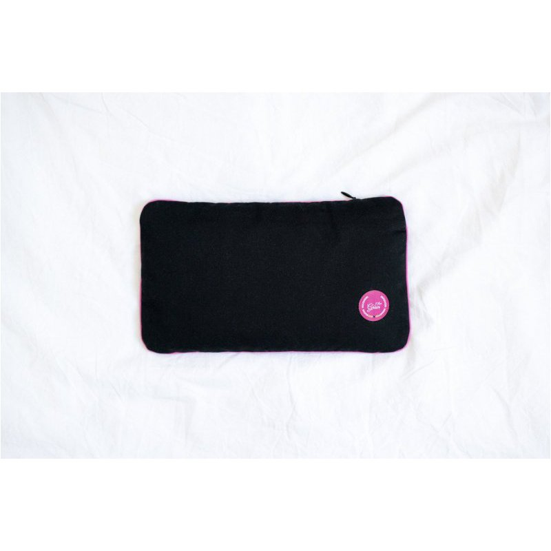 Travel pillow with emmer hull 28x17cm - different colours