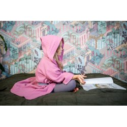 Muslin Kids Bathrobe - light pink