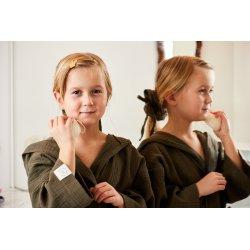 Dziecięcy szlafrok muślinowy - khaki