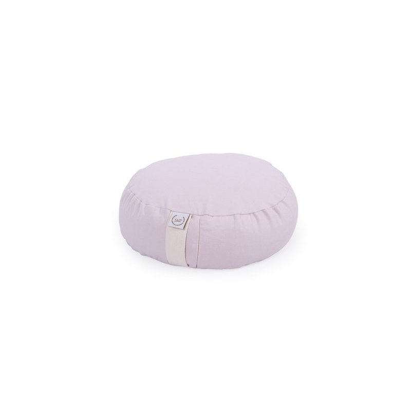 MEDITATION CUSHION 33X12 CM WITH MILLET HULL BABY PINK