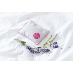 MINI PILLOW WITH LAVENDER PINK/GREY