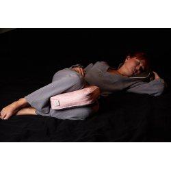 Knee pillow - separator - with spelt hull - blue/lime