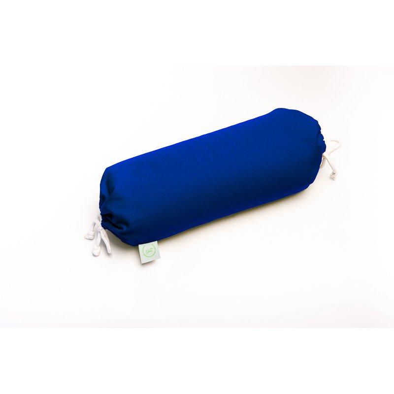 BOLSTER WITH SPELT HULL 45cm BLUE/LIME