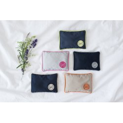 MINI PILLOW WITH VERBENA DARK BLUE/LIME