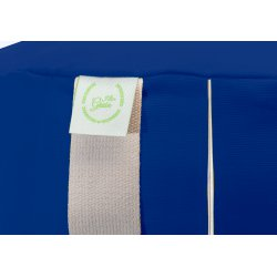 MEDITATION CUSHION 55x7 CM WITH MILLET HULL BLUE/LIME