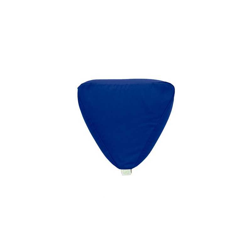 Pufa trójkątna mała z łuską gryki - niebieski/limonka