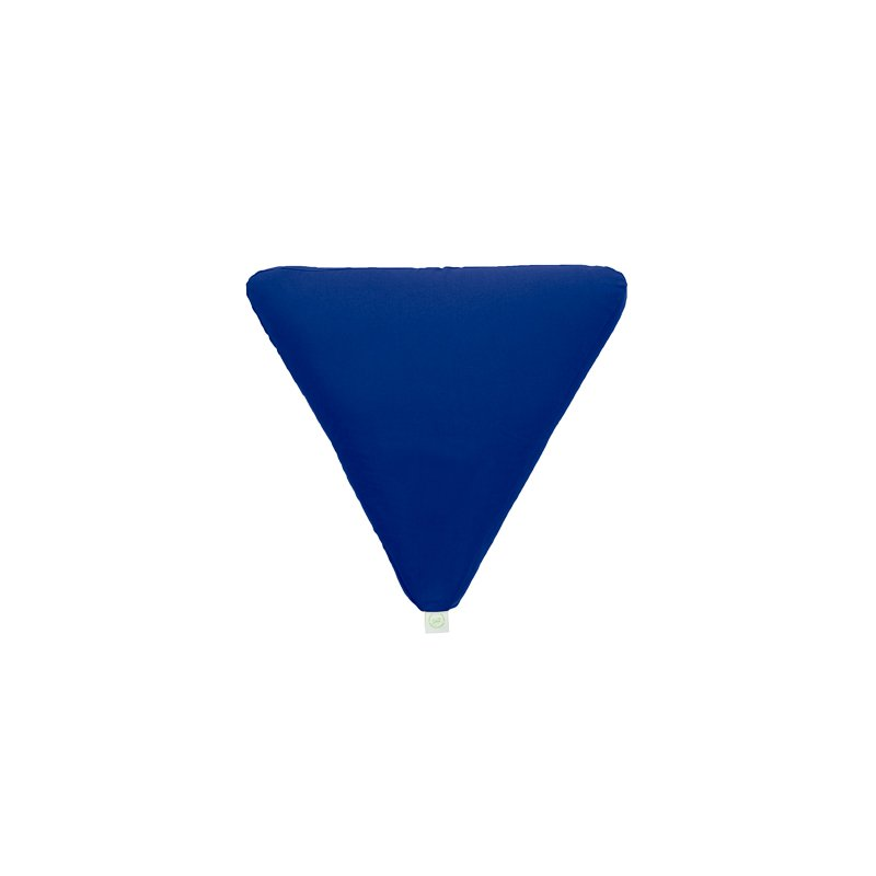 MEDITATION CUSHION 65x65x6 CM WITH EMMER HULL BLUE/LIME