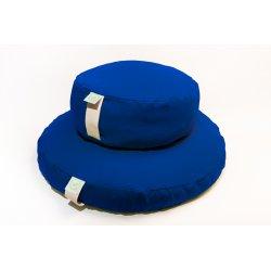 MEDITATION CUSHION 33x12 CM WITH SPELT HULL BLUE/LIME