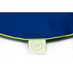 Chair pad with cherry stones - blue/lime
