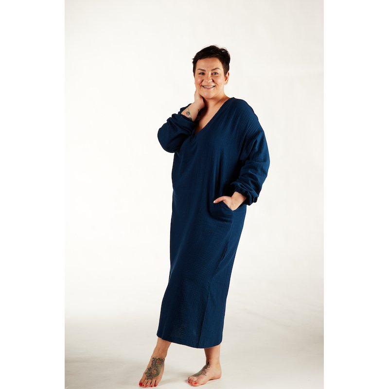 Womens nightdress - dark blue