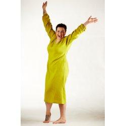 Damska koszula nocna - limonka