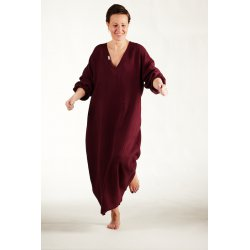 Womens nightdress - burgundy