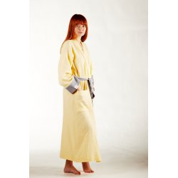 Womens Dressing - Gown - light yellow