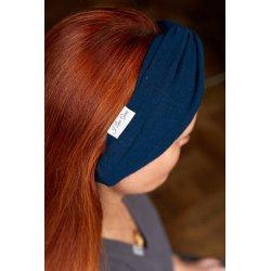 Muslin hairband for women – dark blue