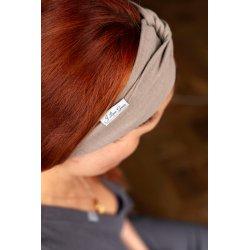 Muslin hairband for women – latte