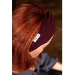 Muslin hairband for women – burgundy