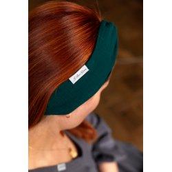 Muslin hairband for women – dark green