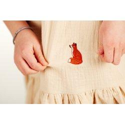Dziewczęca sukienka nocna – limonka