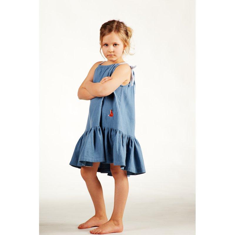 Dziewczęca sukienka nocna – niebieska