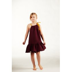 Girls' night dress – burgundy