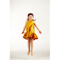 Muslin hairband for kids – burgundy