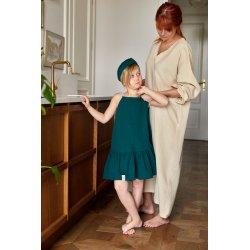 Muślinowa opaska na włosy dla dzieci – ciemna zieleń