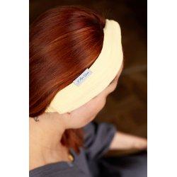 Muślinowa opaska na włosy dla dzieci – kanarkowa