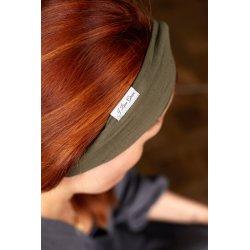 Muślinowa opaska na włosy dla dzieci – khaki