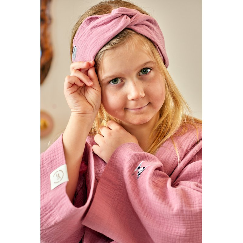 Muslin hairband for kids – light pink