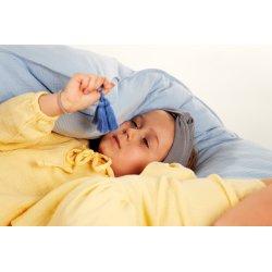 Muślinowa opaska na włosy dla dzieci – jasny szary