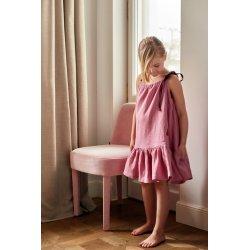 Dziewczęca sukienka nocna – pudrowy róż