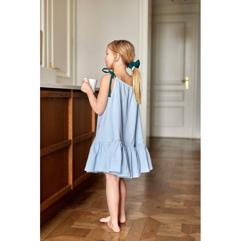 Dziewczęca sukienka nocna – błękit