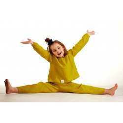 Pajamas with long sleeves for kids – lime