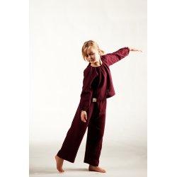 Dziecięca piżamka z długim rękawem – bordo