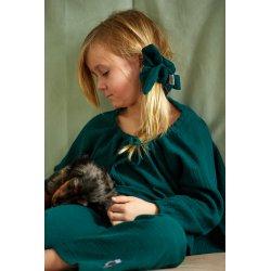 Dziecięca piżamka z długim rękawem – ciemna zieleń
