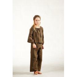 Dziecięca piżamka z długim rękawem – khaki