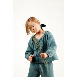 Dziecięca piżamka z długim rękawem – turkus