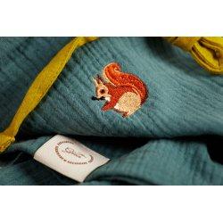 Dziecięca piżamka na ramiączkach z długimi spodniami – szary/kanarkowy