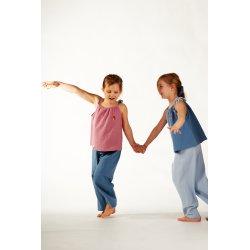 Dziecięca piżamka na ramiączkach z długimi spodniami – niebieski/błękit