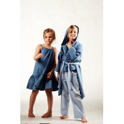 Dziecięcy szlafrok muślinowy - niebieski