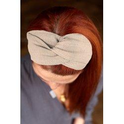 Muślinowa opaska na włosy...