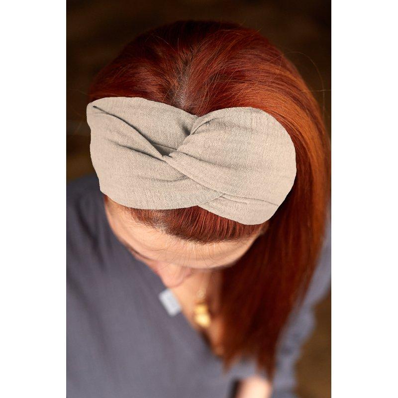 Muslin hairband for women – sand