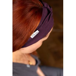 Muslin hairband for women – violet