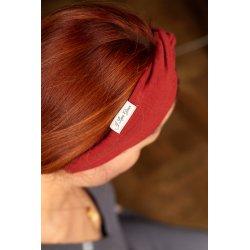 Muślinowa opaska na włosy dla dzieci – rudy