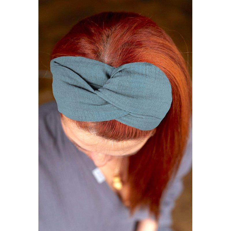 Muslin hairband for kids – turquise