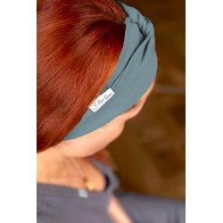 Muślinowa opaska na włosy dla dzieci – turkus