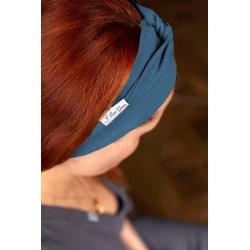 Muslin hairband for kids – blue