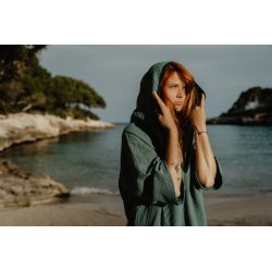 Surf Poncho – turquoise