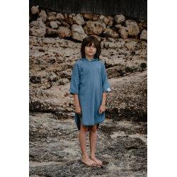 Kids Poncho - niebieskie