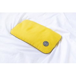 TRAVEL PILLOW WITH MILLET HUSK GREY/GREY/YELLOW